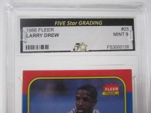 Lot 1083: 1986 FLEER LARRY DREW GRADED MINT 9