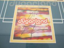 Lot 1101: Sugarland Signed Autographed Framed CD Cover Certified CoA