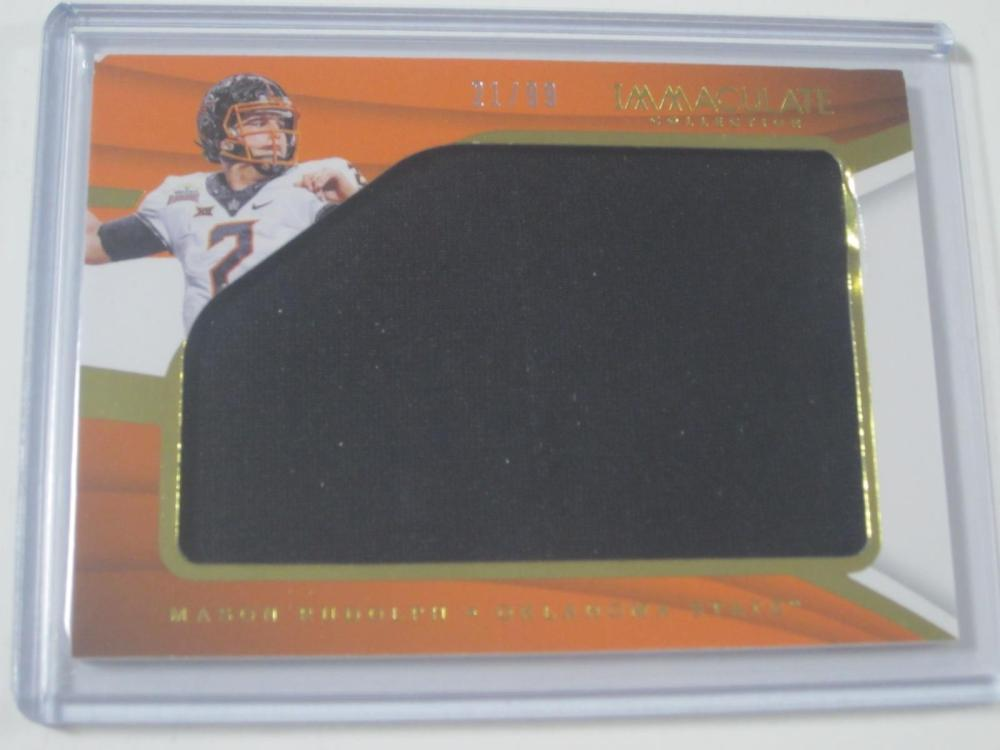 Lot 1100: 2018 PANINI FOOTBALL MASON RUDOLPH OSU PIECE OF GAME USED JERSEY CARD