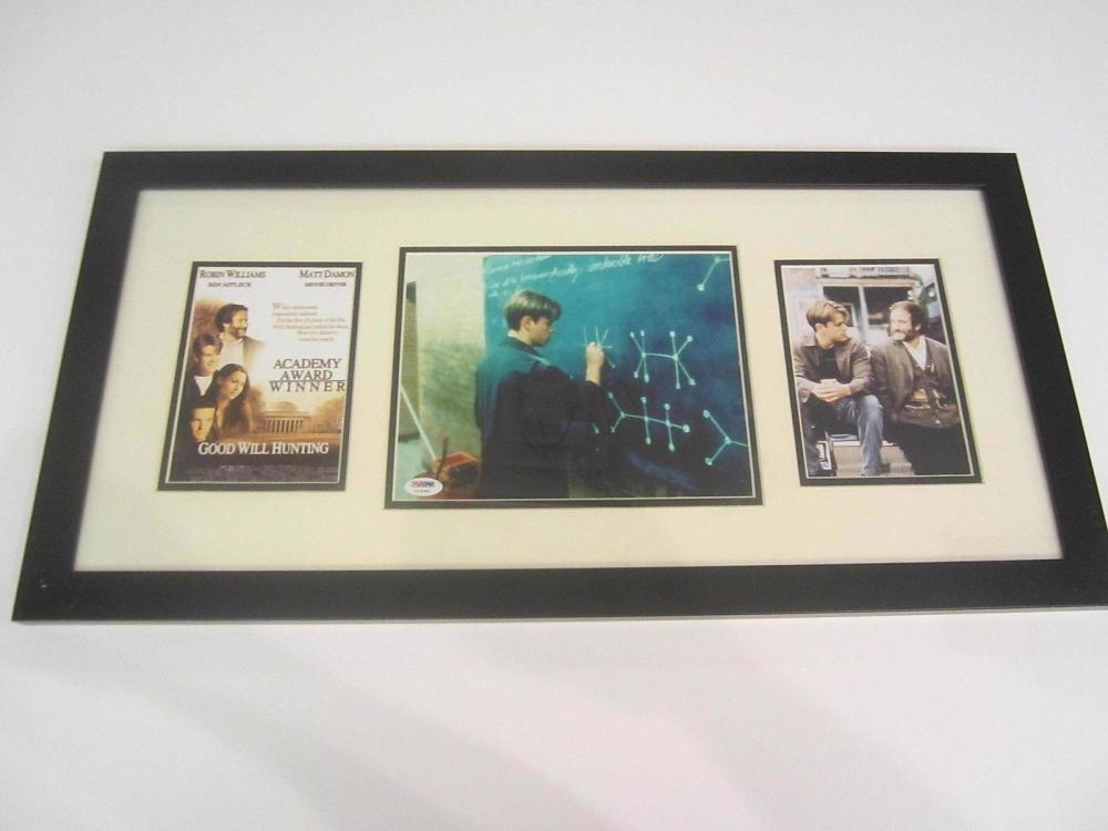 "Lot 1109: Matt Damon Signed Autographed Framed ""Good Will Hunting"" Photo PSA/DNA CoA"
