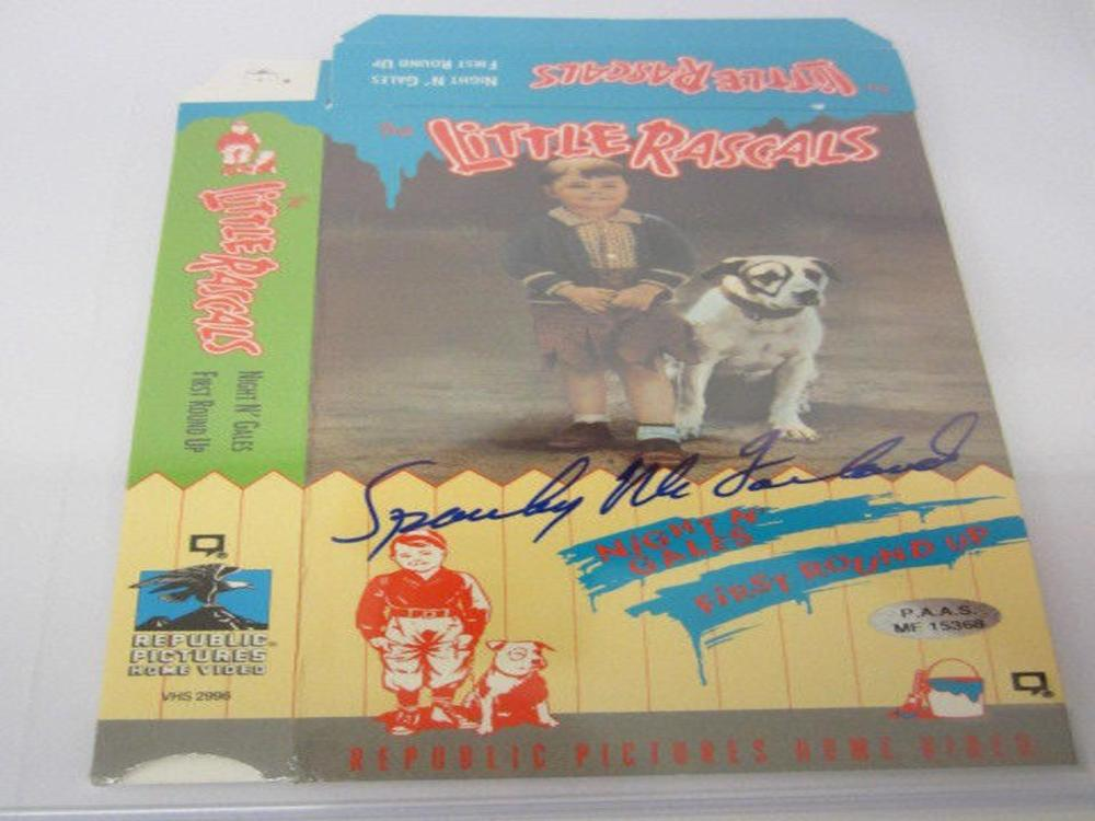 "Lot 1113: George ""Spanky"" McFarland (Actor) Signed Autographed ""Little Rascals"" VHS Cover Certified CoA"