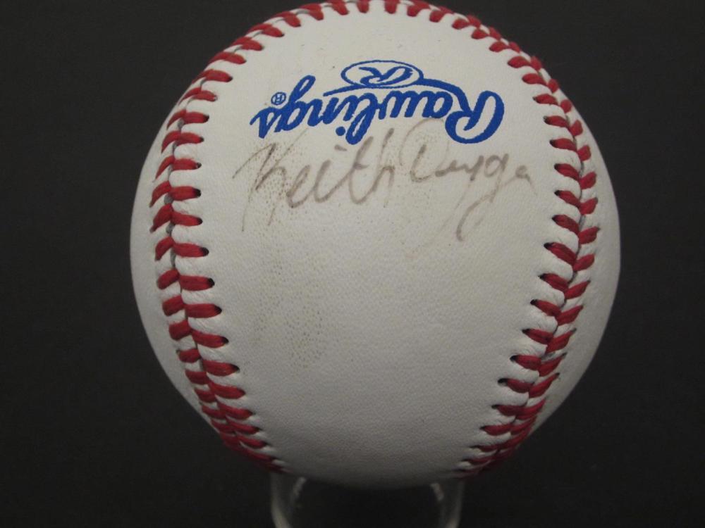 Lot 1089: KEITH DUGGER SIGNED AUTOGRAPHED BASEBALL CAS COA