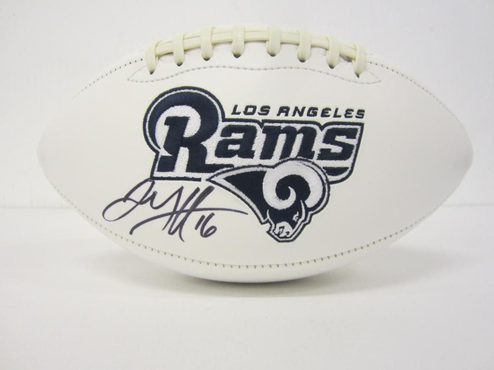 Lot 1120: JARED GOFF RAMS SIGNED AUTOGRAPHED FOOTBALL CERTIFIED COA
