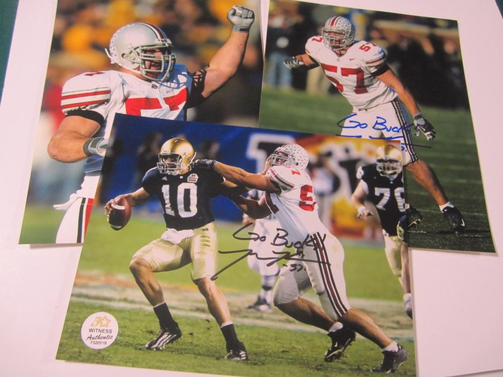 Lot 1128: (3)MIKE KUDLA SIGNED AUTOGRAPHED OHIO STATE 8X10 COA