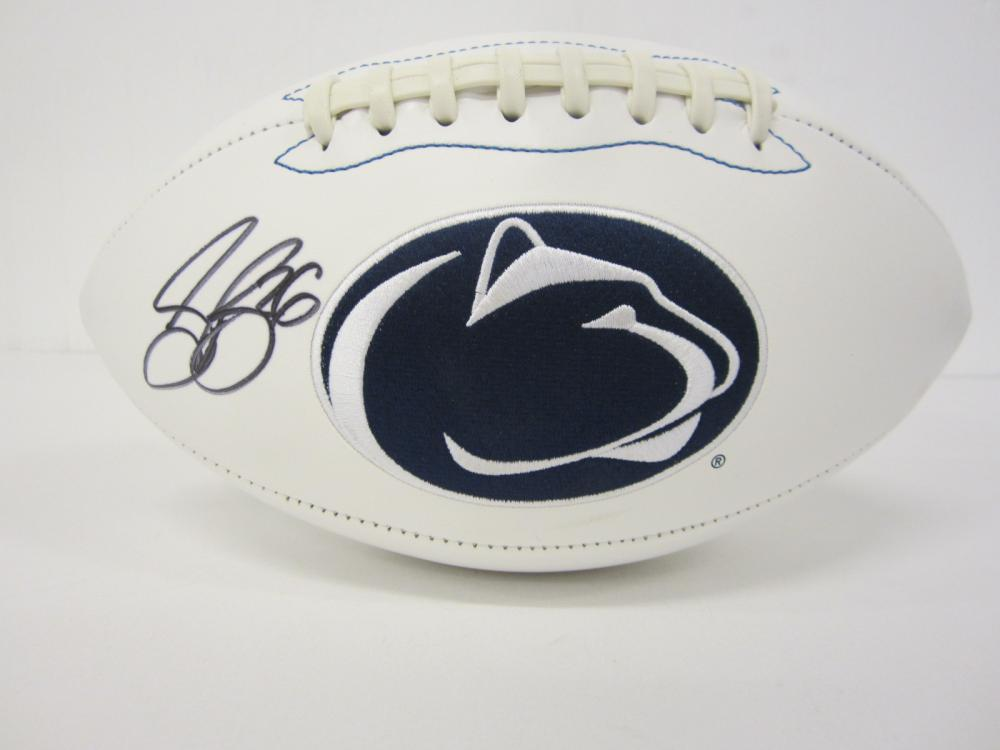 Lot 1119: SAQUON BARKLEY PENN STATE SIGNED AUTOGRAPHED FOOTBALL CERTIFIED COA