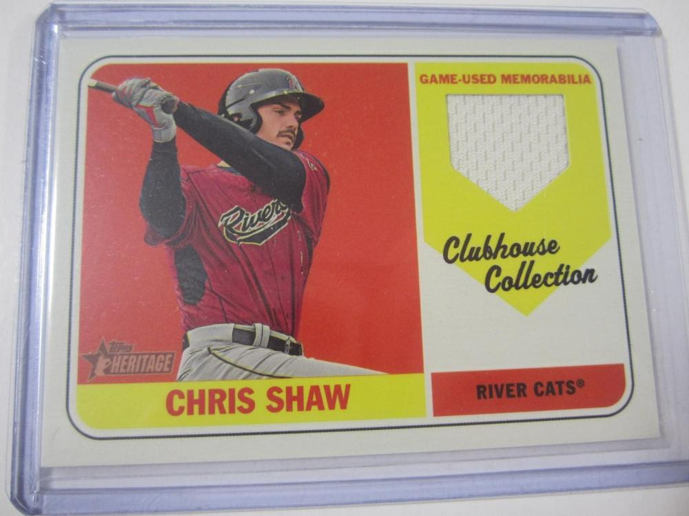 Lot 1125: 2018 TOPPS BASEBALL CHRIS SHAW MLB PIECE OF GAME USED JERSEY CARD