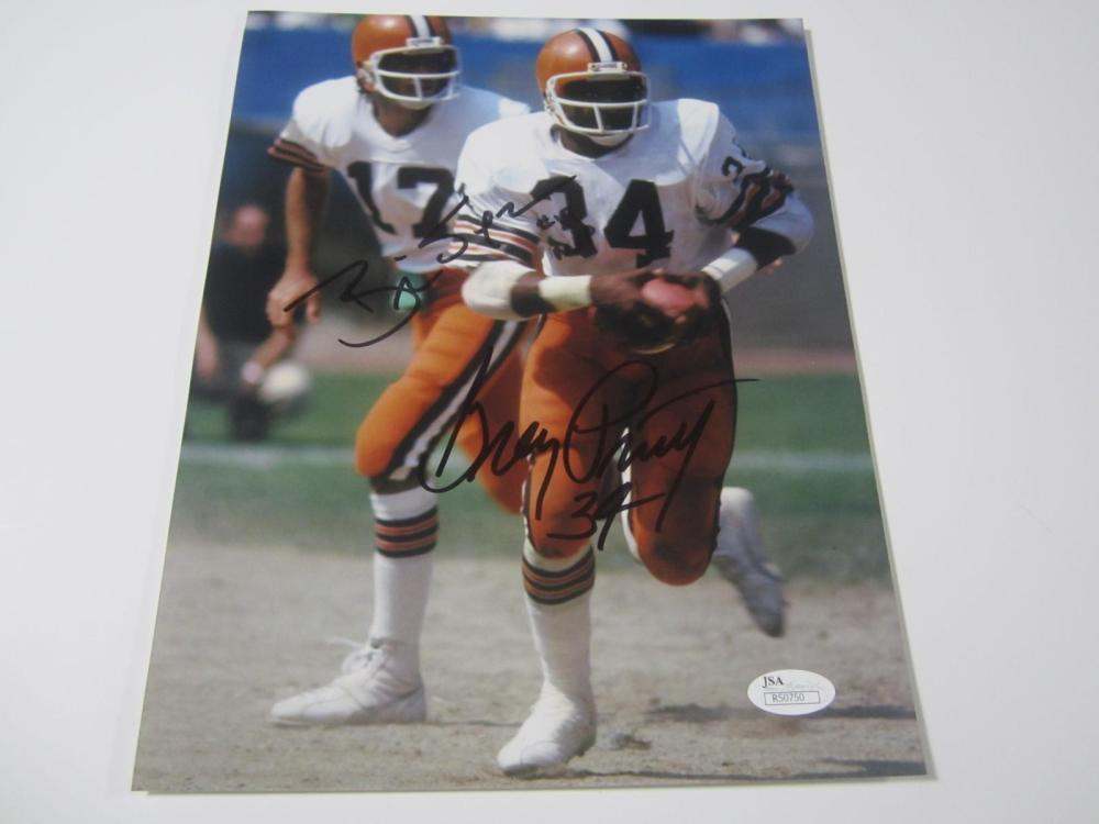Lot 1121: Brian Sipe, Greg Pruitt Browns signed autographed 8x10 Photo Certified JSA Coa