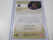 Lot 1143: 2001 UPPER DECK AUTHENTIC FABRICS JERSEY RELIC JALEN ROSE TORONTO RAPTORS SPORTS CARD #AF-JR