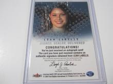 Lot 1146: 2004 FLEER LEAH LABELLE AMERICAN IDOL SIGNED AUTOGRAPHED SPORTS CARD #SSD-LL2