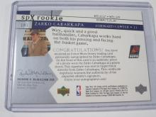 Lot 1149: 2003 UPPER DECK SPX ROOKIE JERSEY RELIC 0550/1999 ZARKO CABARKAPA SUNS SIGNED AUTOGRAPHED SPORTS CARD #181