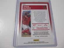 Lot 1161: 2017 PANINI BASEBALL JORGE ALFARO SIGNED AUTOGRAPHED CARD