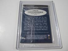 Lot 1159: 2011 TOPPS LINEAGE JERSEY RELIC FELIX HERNANDEZ SEATTLE MARINERS SPORTS CARD #75R-FH