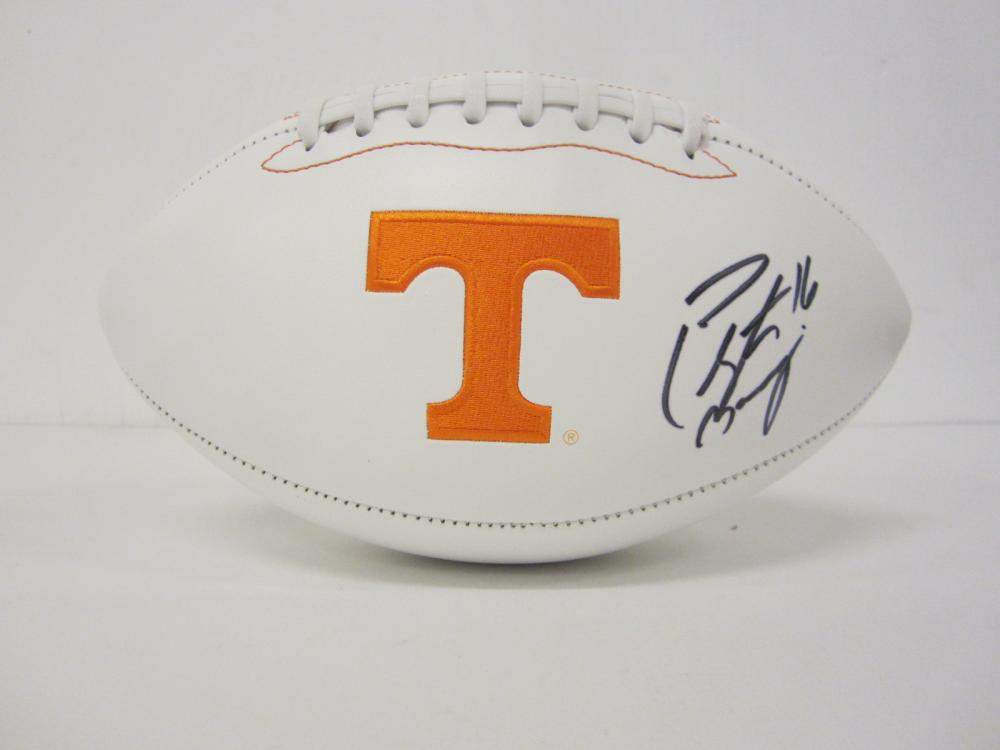Lot 1171: PEYTON MANNING TENNESSEE SIGNED AUTOGRAPHED FOOTBALL CERTIFIED COA