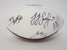 Lot 1178: 2019 STEELERS TEAM SIGNED AUTOGRAPHED FOOTBALL CONNER ROETHLISBERGER AND OTHERS CERTIFIED COA