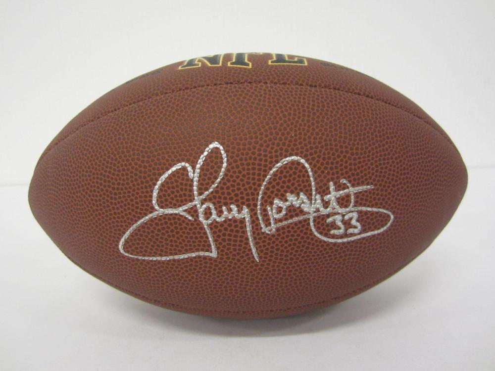 Lot 1168: TONY DORSETT COWBOYS SIGNED AUTOGRAPHED WILSON SUPERGRIP BROWN FOOTBALL CERTIFIED