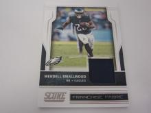Lot 1169: 2017 PANINI FOOTBALL WENDELL SMALLWORD PIECE OF GAME USED EAGLES JERSEY CARD