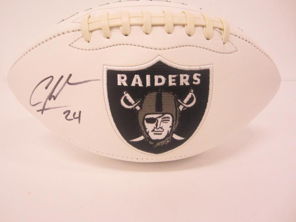 Lot 1190: CHARLES WOODSON SIGNED AUTOGRAPHED RAIDERS FOOTBALL COA