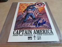 Stan Lee Autographed Captain America Comic Book