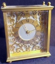Vintage Charles Hour Brass Clock