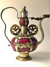 Chinese Hallmarked JADE/SILVER Dragon Teapot