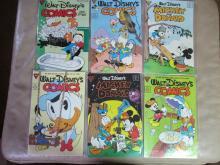 vintage set of Walt Disney Comic Books