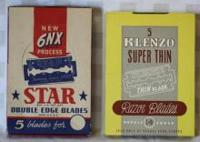 2 NOS Razor Blade Displays - Star & Klenzo