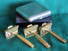 3 Vintage Gem Single Edge Razors + Boxes
