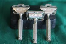 3 Vintage / Antique Razors - Gem, EverReady