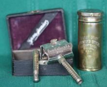 1900 Gem Junior Safety Razor w/ Box & Shave Stick