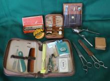 Vintage & Antique Grooming Kits w/ Razors & More