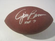 Jim Brown Autographed Full Size Football