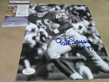 Gayle Sayers autographed photo