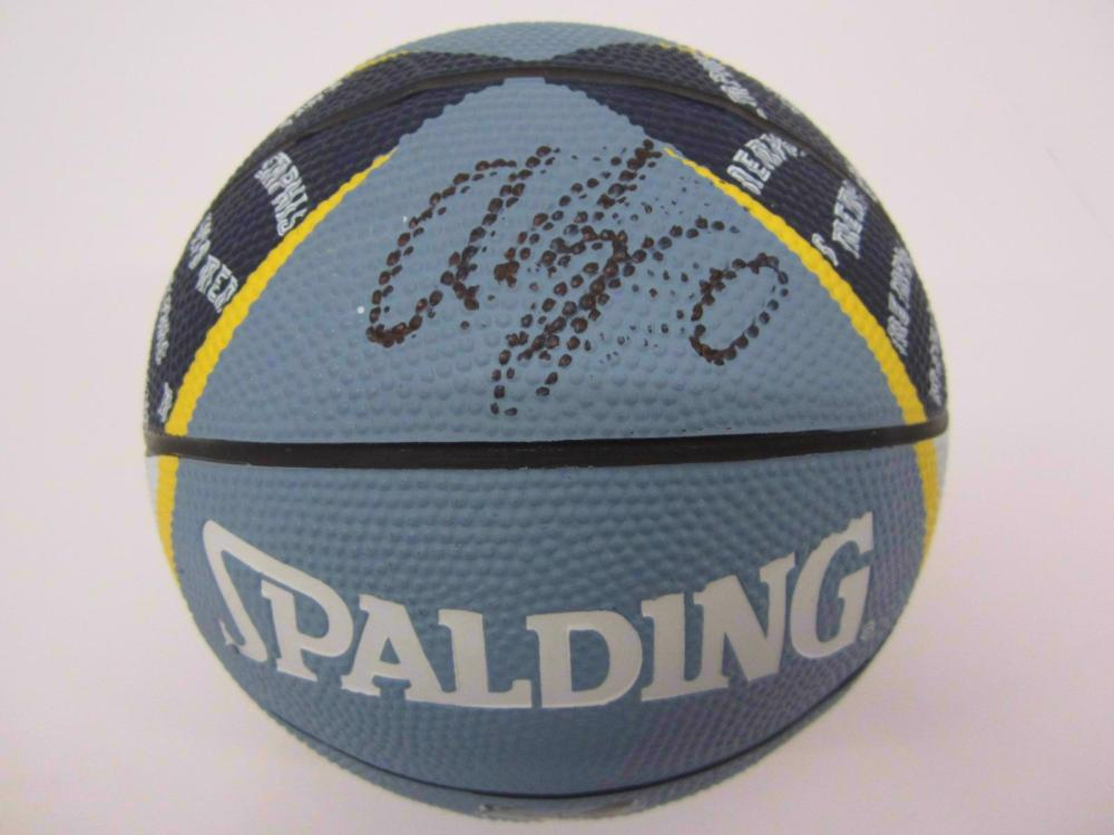 Avery Bradley Grizzlies signed autographed mini Basketball FIVESTAR Certified