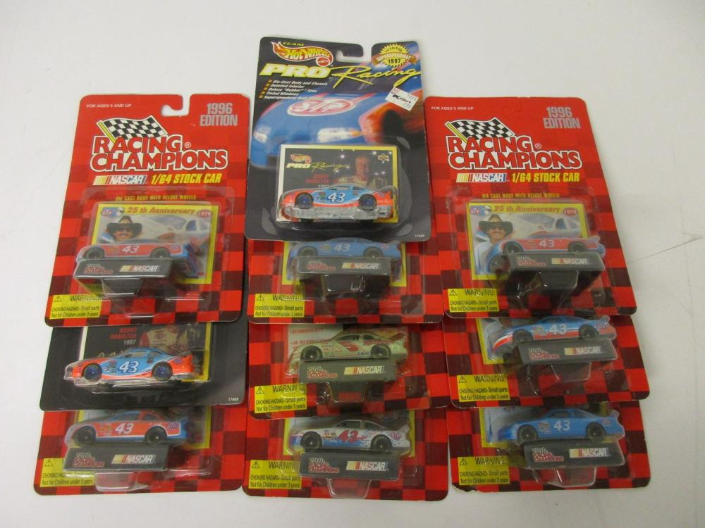 Richard Petty Racing Champions NASCAR Die Cast 10 Piece Lot 1/64 Scale