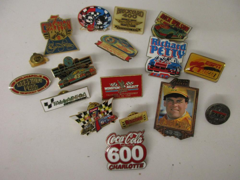 NASCAR Limited Edition Lot of  17 Collector Race Pins Richard Petty