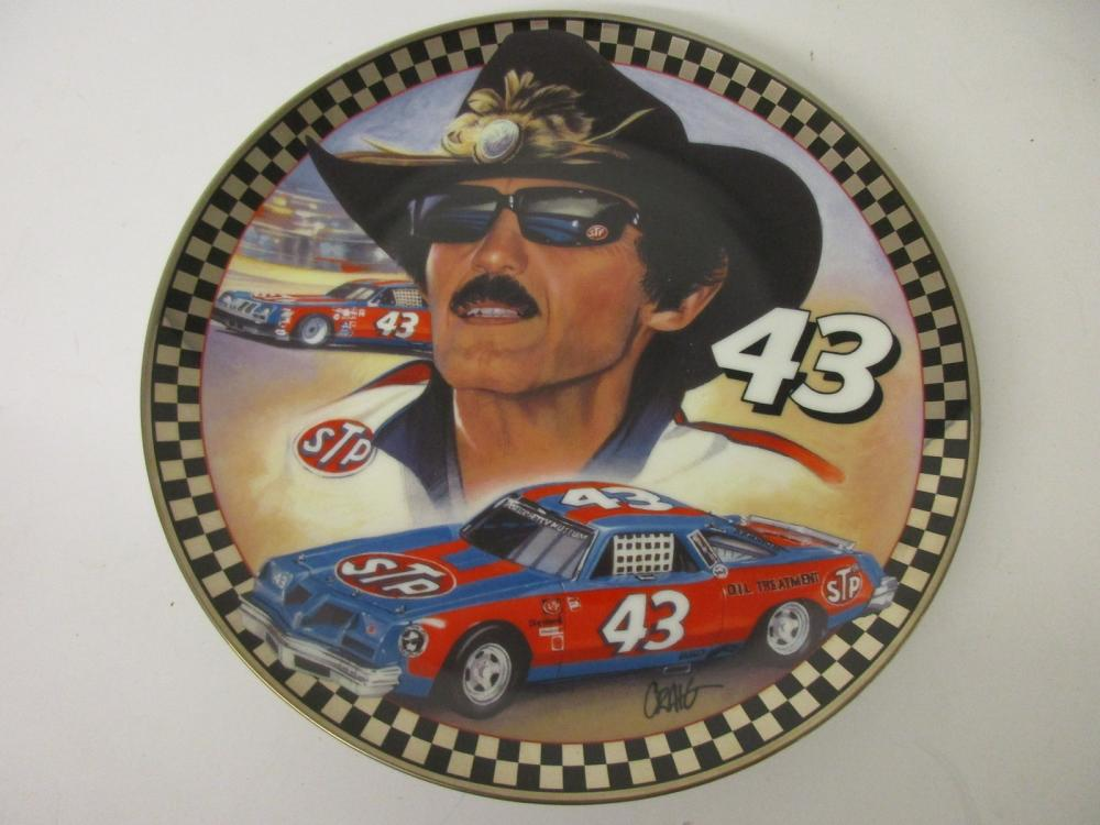Richard Petty NASCAR Ol' 43 Limited Edition Collectors Plate Franklin Mint w/COA