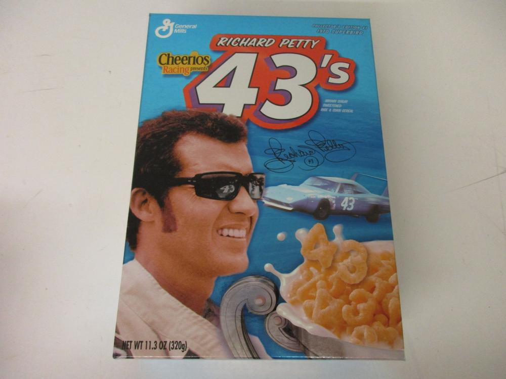 Richard Petty NASCAR Cheerios Racing 43s Cereal Box SEALED Coll Edition #1