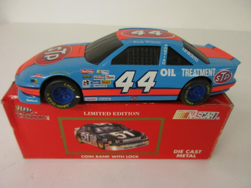 Rick Wilson Richard Petty Racing Champions Limited Edition Coin Bank Die Cast