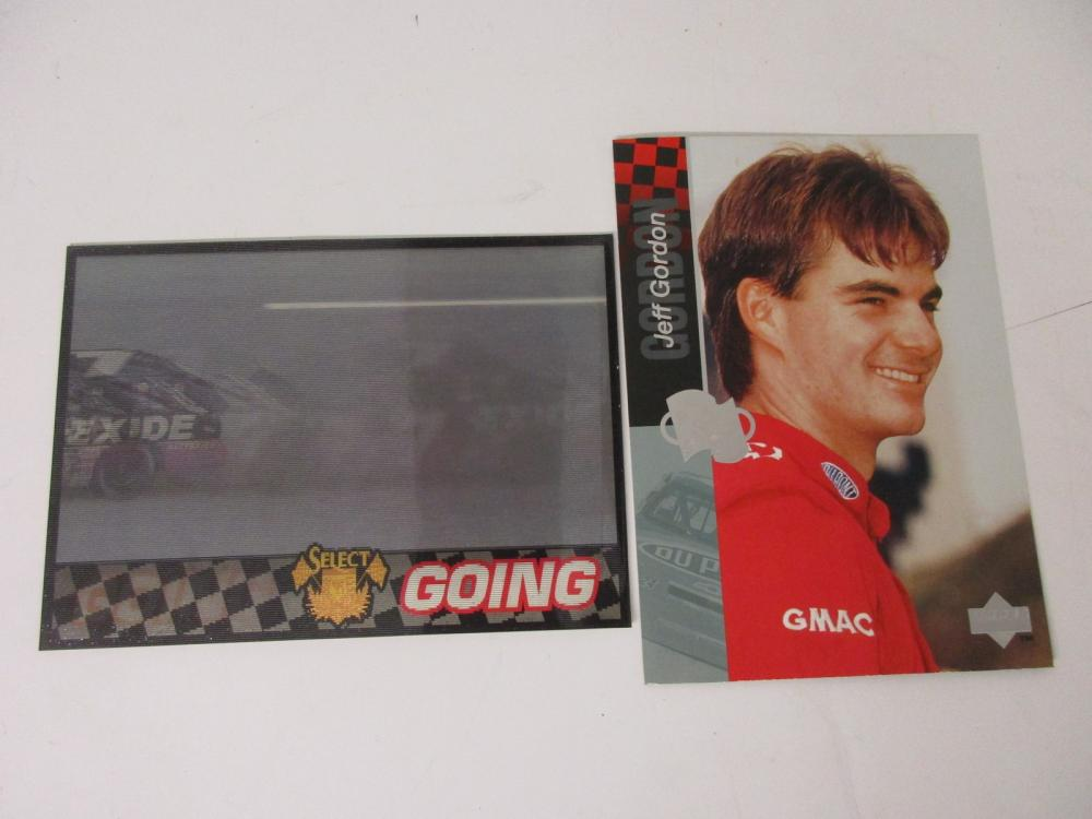 Geoff Bodine Jeff Gordon lot of 2 Jumbo Collector's cards Upper Deck / Select