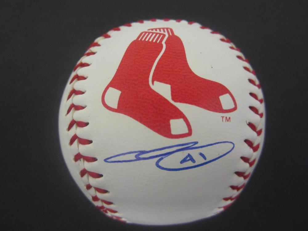 CHRIS SALE RED SOX SIGNED AUTOGRAPHED BASEBALL CERTIFIED COA