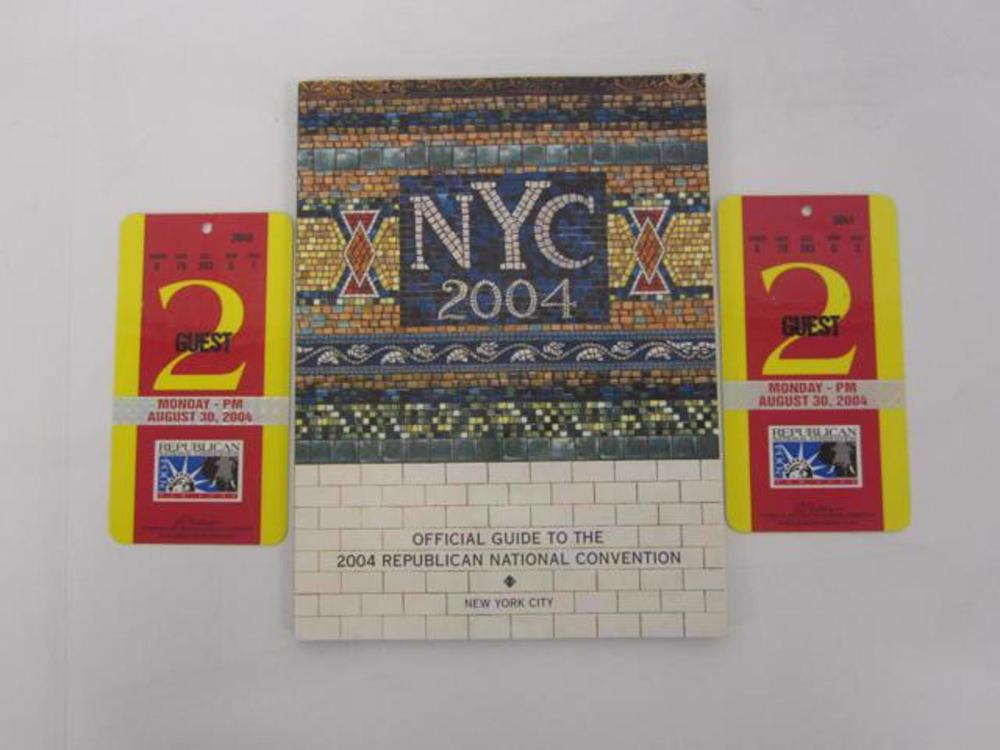 2004 Republic National Convention Program with Tickets