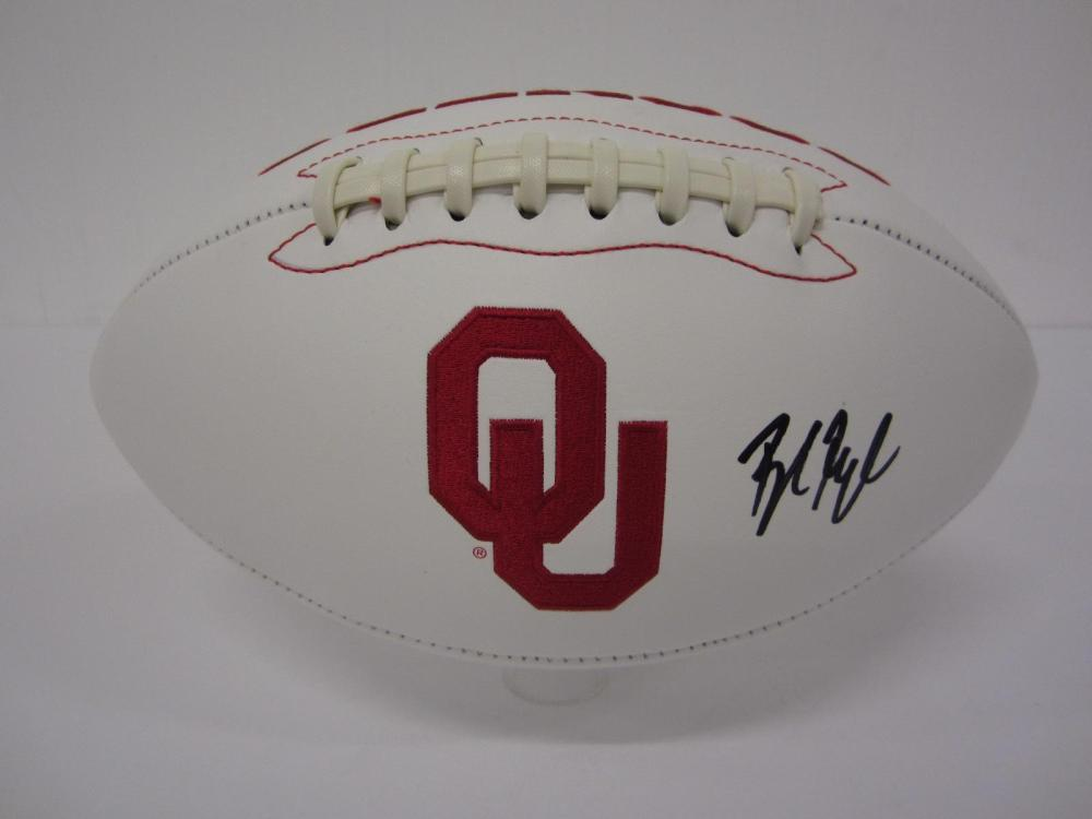 BAKER MAYFIELD OKLAHOMA SOONERS SIGNED FOOTBALL CERTIFIED COA