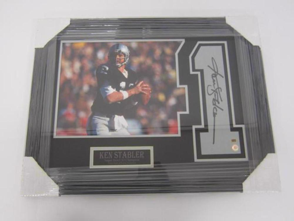 Ken Stabler Oakland Raiders Hand Signed Autographed Jersey Number Framed Matted CAS Certified COA
