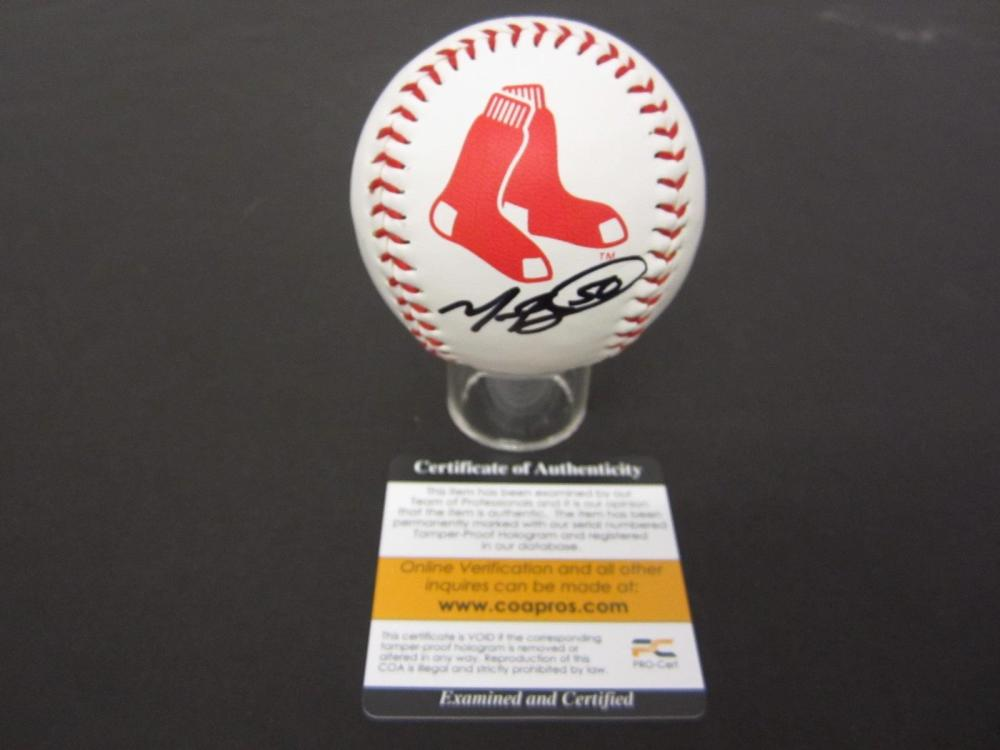 MOOKIE BETTS RED SOX SIGNED AUTOGRAPHED BASEBALL COA PROS CERTIFIED
