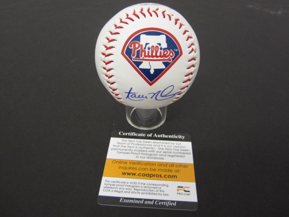 Aaron Nola Phillies signed autographed Baseball COA PROS Certified