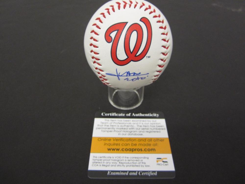 Juan Soto Nationals signed autographed Baseball COA Certified