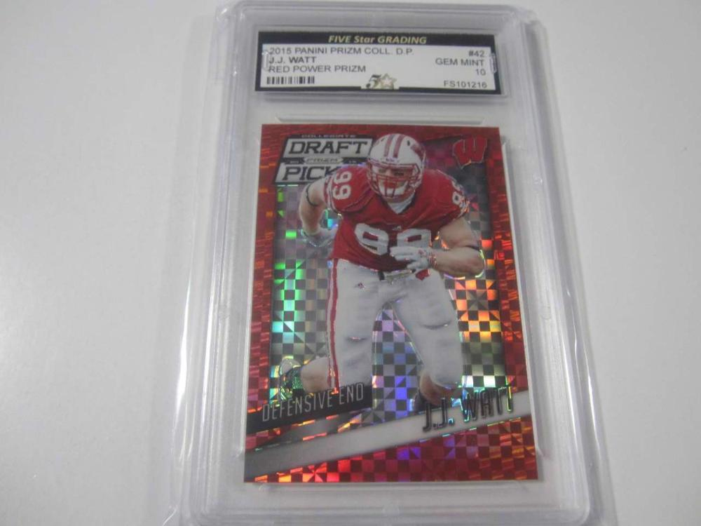 2015 Panini Prizm Coll. D. P. RED POWER PRIZM #42 Trading Card FIVESTAR Graded Gem Mint 10