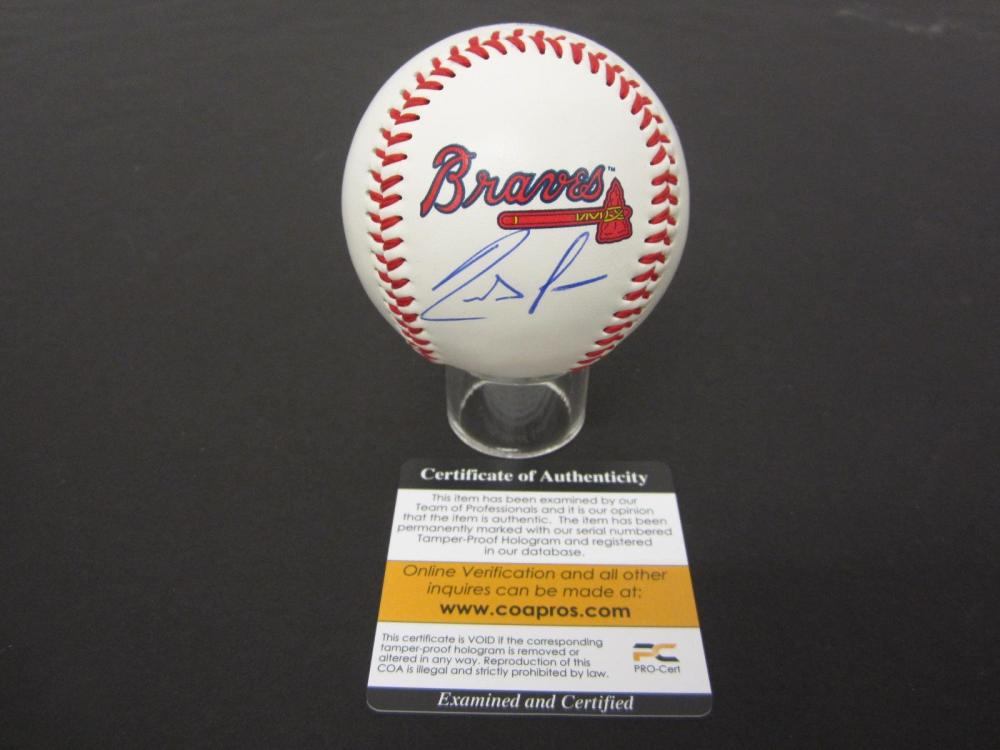 RONALD ACUNA JR BRAVES SIGNED AUTOGRAPHED BASEBALL COA PROS CERTIFIED