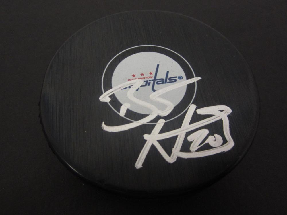 BRANDON HOLTBY SIGNED AUTOGRAPHED HOCKEY PUCK CERTIFIED COA