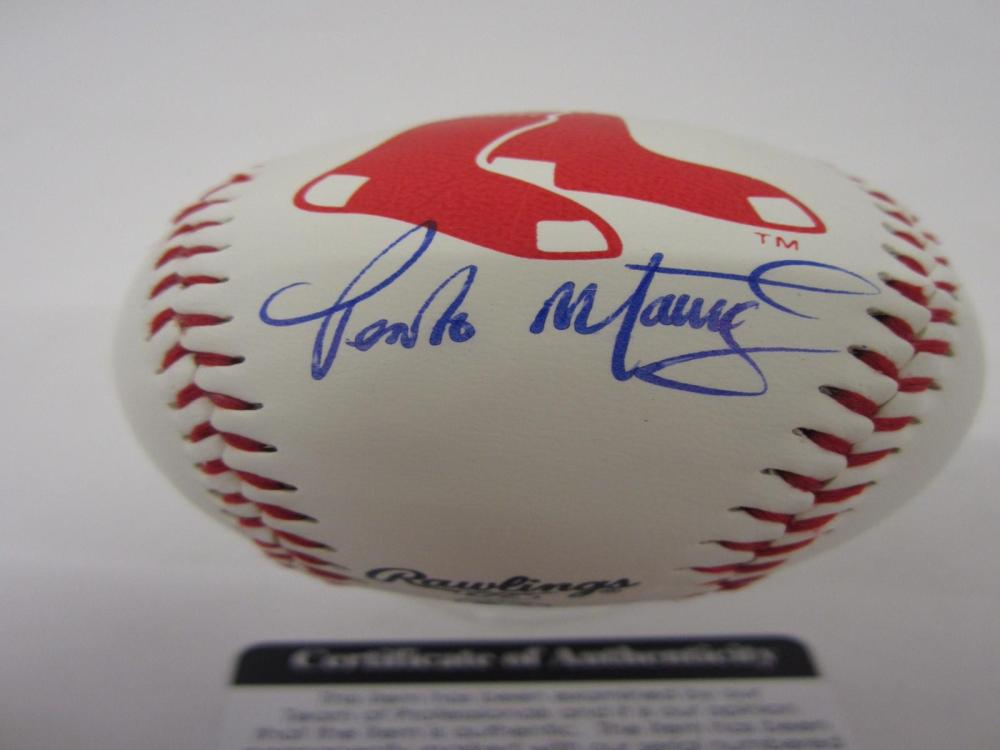 PEDRO MARTINEZ RED SOX SIGNED AUTOGRAPHED BASEBALL COA PROS CERTIFIED